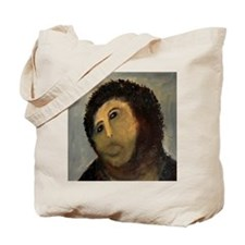 Jesus Fresco Head Tote Bag
