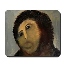 Jesus Fresco Head Mousepad