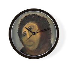 Jesus Fresco Head Wall Clock
