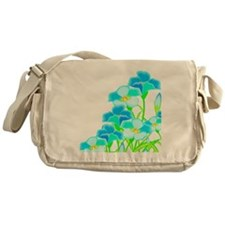 Flowers in Shades of Blue Messenger Bag