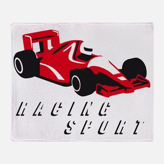 car racing Throw Blanket