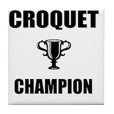 croquet champ Tile Coaster