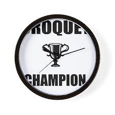 croquet champ Wall Clock