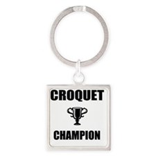 croquet champ Square Keychain
