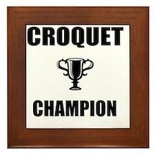 croquet champ Framed Tile