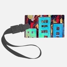 Little Turquoise Houses Luggage Tag