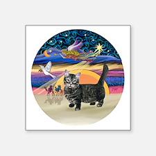 "XAngel-Munchkin cat1 Square Sticker 3"" x 3"""