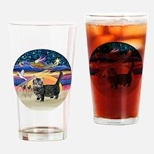 XAngel-Munchkin cat1 Drinking Glass