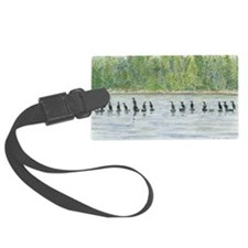 skin-Cormorants-BevKadowArt Luggage Tag