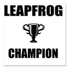 """leapfrog champ Square Car Magnet 3"""" x 3"""""""