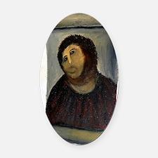 Jesus Fresco large Oval Car Magnet