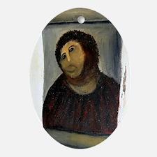 Jesus Fresco large Oval Ornament