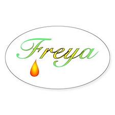 Freya, Goddess of Love Oval Decal