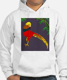 Golden Pheasant-Gray background Hoodie