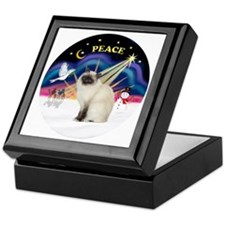 Christmas Sunrise - Birman cat Keepsake Box