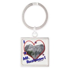 Mt Rushmore Square Keychain