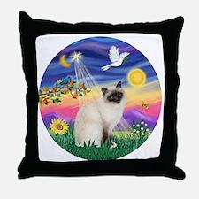 Twilight - Birman cat Throw Pillow