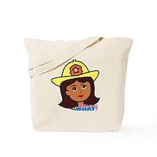 Firefighter Woman Head Dark Tote Bag