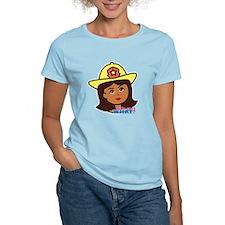 Firefighter Woman Head Dark T-Shirt