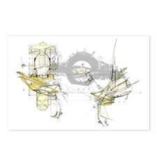 Atoms Splitting Postcards (Package of 8)
