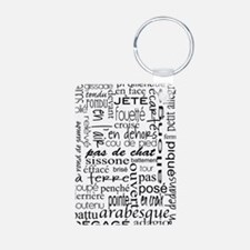 Ballet is hard terminology Aluminum Photo Keychain