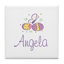 Easter Eggs - Angela Tile Coaster