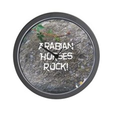 Arabian Horses Rock! Wall Clock
