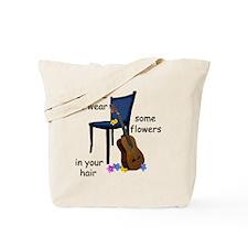 Empty chair for Scott McKenzie Tote Bag