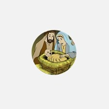 Jesus Christ Is Born (Med) Mini Button