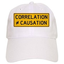 Correlation is Not Causation Print Baseball Cap