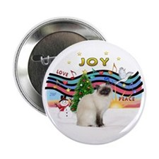 "Xmas Music2 - Birman cat 2.25"" Button"
