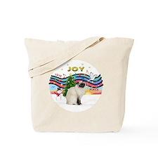 Xmas Music2 - Birman cat Tote Bag