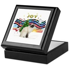 Xmas Music2 - Birman cat Keepsake Box