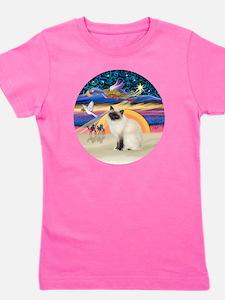 Christmas Angel-Birman cat Girl's Tee