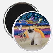 Christmas Angel-Birman cat Magnet