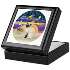 Christmas Angel-Birman cat Keepsake Box