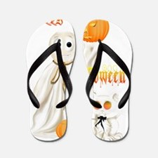 Ghost and Ghosty Kitty Flip Flops