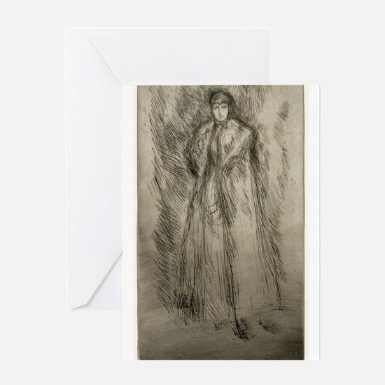 The Fur Cloak - Whistler - c1880 Greeting Card