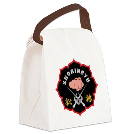 Black Shorin-Ryu Logo Canvas Lunch Bag