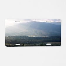 Smokey Mountain Morning Aluminum License Plate