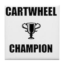 cartwheel champ Tile Coaster