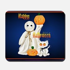 Greeting Card Ghost and Ghosty Kitty Mousepad