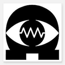 "OhmEye Logo Square Car Magnet 3"" x 3"""
