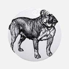 Vintage Bulldog Round Ornament
