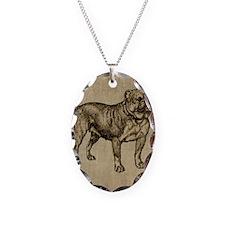 Vintage Bulldog Necklace