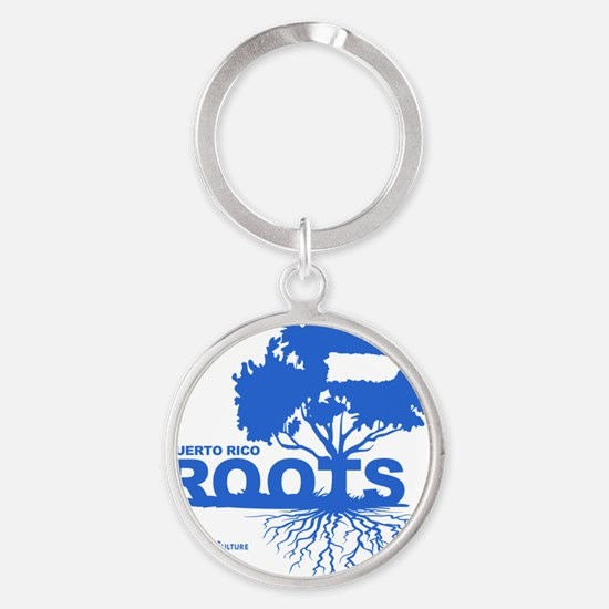 Puerto Rico Roots Round Keychain