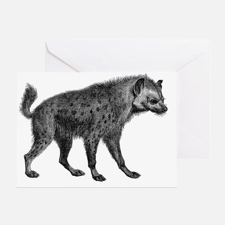 Vintage Hyena Greeting Card