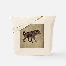 Vintage Hyena Tote Bag