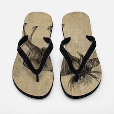 Vintage Moose Flip Flops