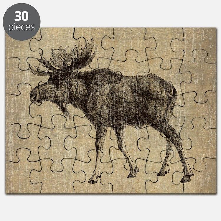 Vintage Moose Puzzle